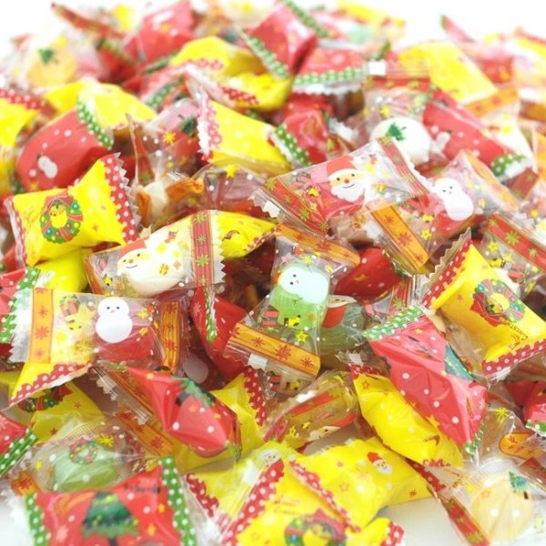 画像1: 業務用クリスマスキャンディー3,000粒入り【送料無料】 (1)