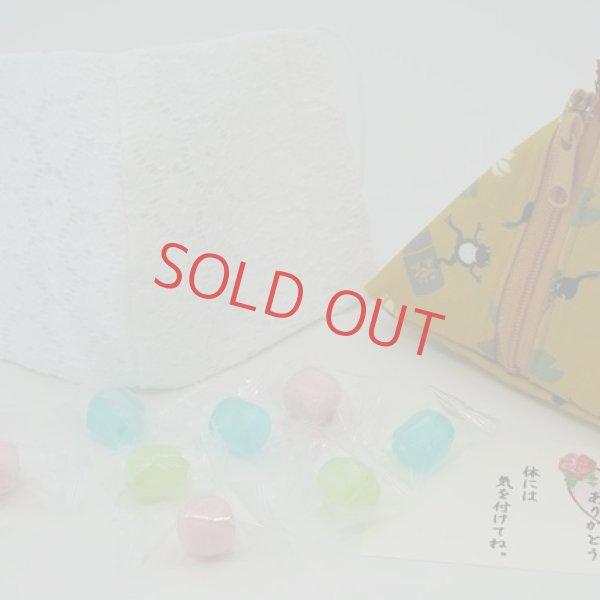 画像1: 母の日 飴とマスクセット 三角ポーチ 〜アメトマスク〜(送料無料) (1)