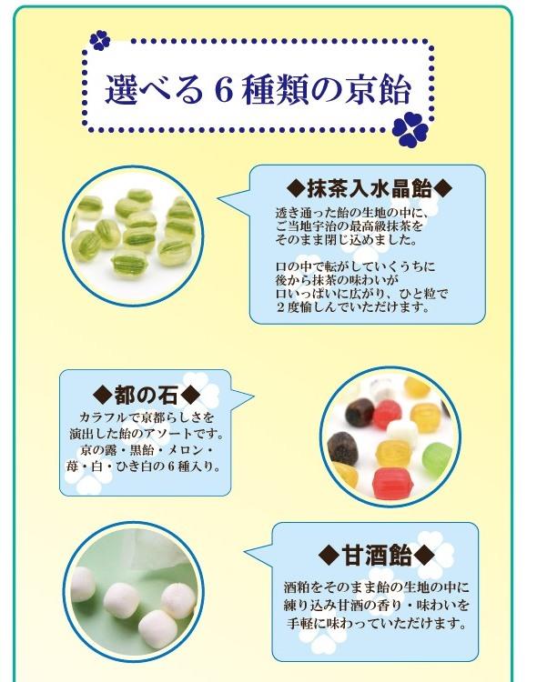 6種類の京飴